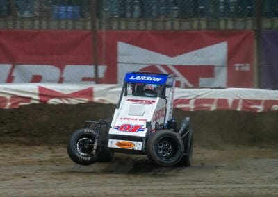 Kyle Larson at the Lucas Oil Chili Bowl Nationals 2020 at the Tulsa Expo Raceway in Tulsa, OK